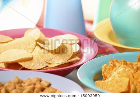 Party Snacks: Nachos And Chips