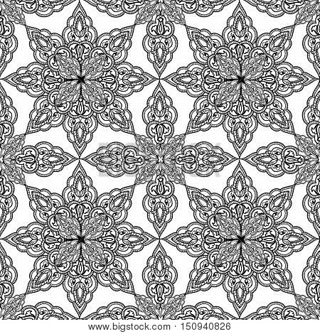 Arabic ornament background Oriental ethnic mandala ornament Abstract floral geometric pattern Geometric circle element for holiday kaleidoscope medallion yoga indian arabic design