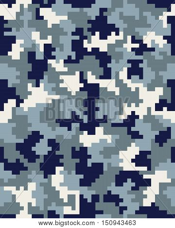 Seamless digital fashion camouflage pattern for clothing