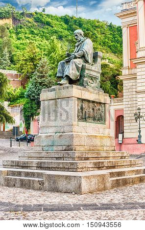 The Statue Of Bernardino Telesio, Old Town Of Cosenza, Italy