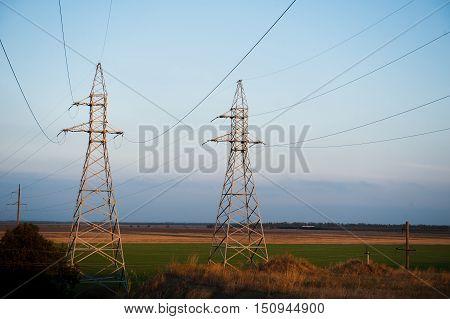 Metal Bearing High Voltage Power Line