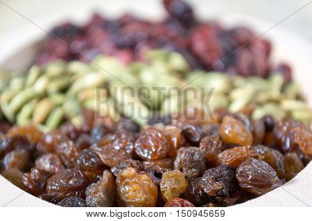 Bowl Full With Dry Fruits