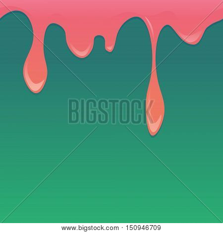 Vector seamless melted horizontal pattern in strawberry pink and green colors. Design for websites booklets cards wallpapers menu