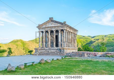 The Garni Temple is the fine example of the ancient Greek and Roman architecture located in Kotayk Province Armenia.