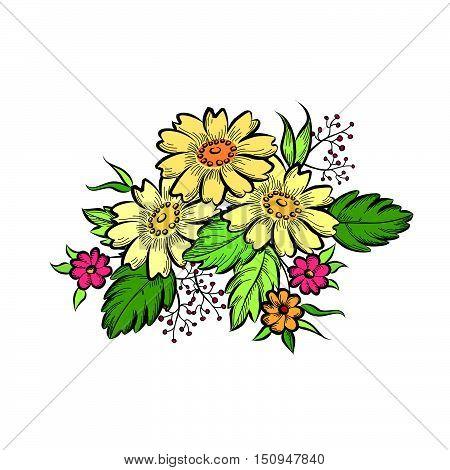 Flower-bouquet-sketch-024