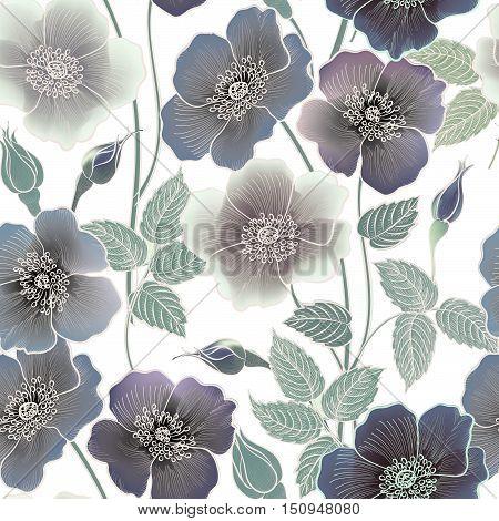 Flower-sketch-background-030A