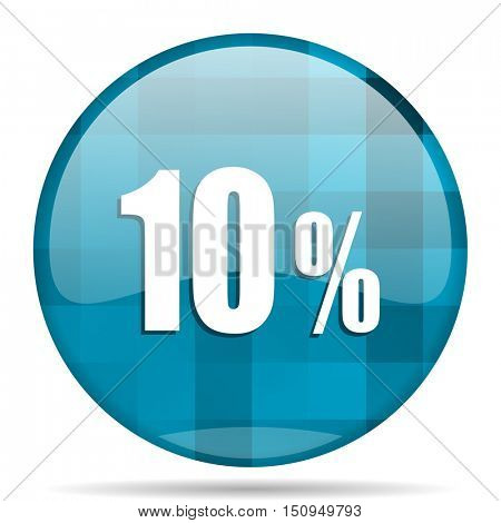 10 percent blue round modern design internet icon on white background