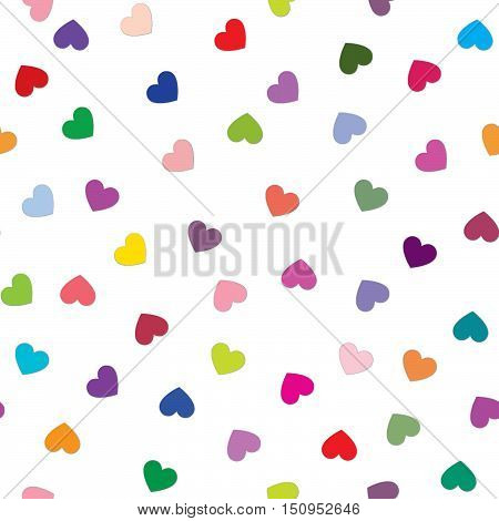 Love heart tiling background. Romantic seamless pattern with hearts. Great for Valentine's Day Mother's Day baby announcement Easter wedding scrapbook gift wrapping paper textiles.