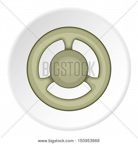 Car rudder icon. Cartoon illustration of car rudder vector icon for web