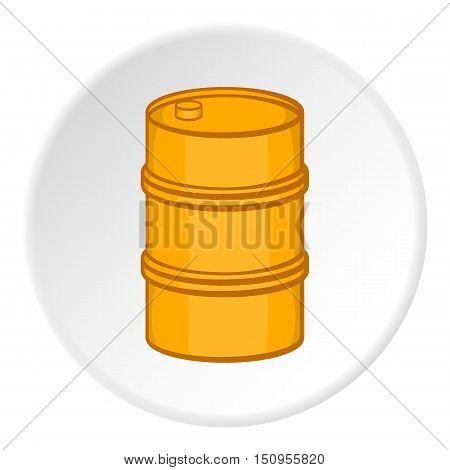 Barrel icon. Cartoon illustration of barrel vector icon for web