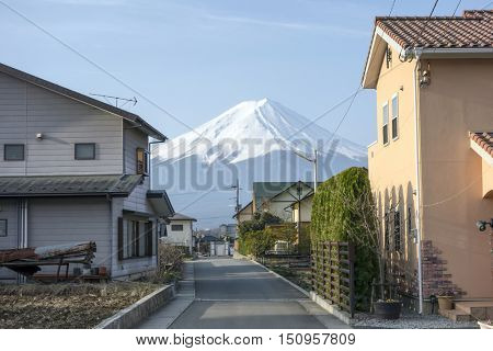 Mt Fuji from Kawaguchiko.