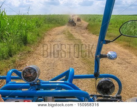 Buggy adventure in Cumayasa, near La Romana and Catalina Island. Enjoy the landscapes of the Dominican Republic during a Buggy ride. The Buggy ride is a popular excursion in Cumayasa area.