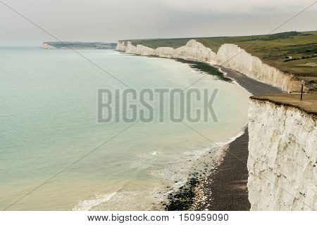 Seven Sisters From Birling Gap Near Eastbourne