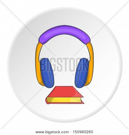 Audio book icon. Cartoon illustration of audio book vector icon for web