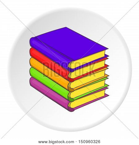 Stack of books icon. Cartoon illustration of stack of books vector icon for web