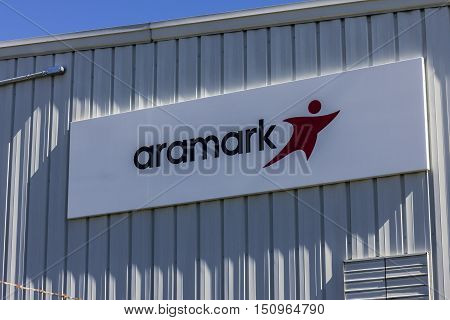 Indianapolis - Circa October 2016: Aramark Uniforms Services. Aramark is a foodservice facilities and uniform services provider I