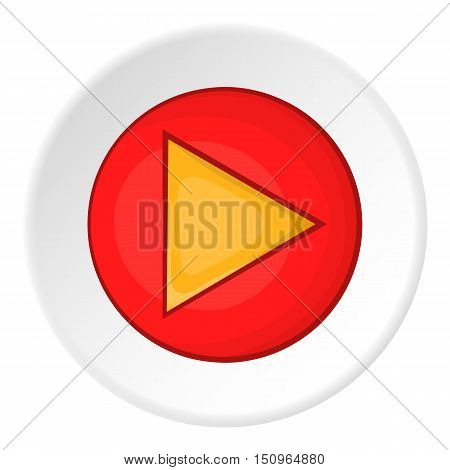 Play button icon. Cartoon illustration of play button vector icon for web