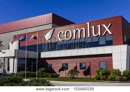 Indianapolis - Circa October 2016: Comlux America Headquarters. Comlux is a Corporate Charter Airline I