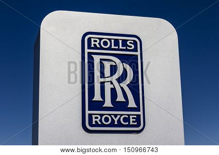 Indianapolis - Circa October 2016: Rolls-royce Libertyworks Logo And Signage. Rolls-royce Is A Globa
