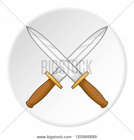 Knives icon. Cartoon illustration of knives vector icon for web
