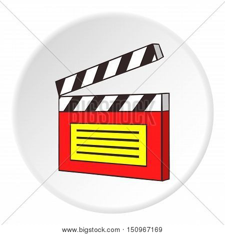 Clapperboard icon. Cartoon illustration of clapperboard vector icon for web