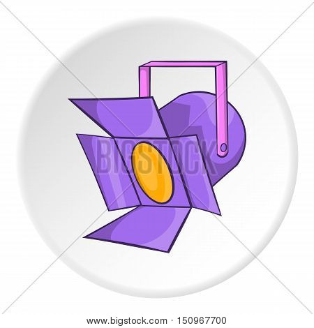 Spotlight icon. Cartoon illustration of spotlight vector icon for web