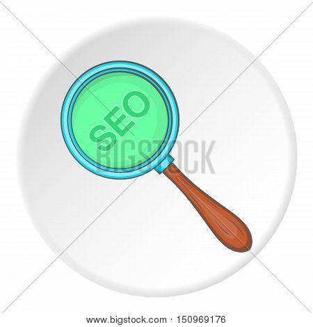 SEO optimization icon. Cartoon illustration of seo optimization vector icon for web