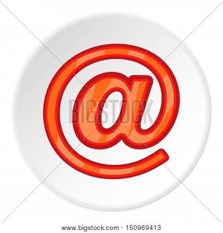 Sign e-mail icon. Cartoon illustration of sign e-mail vector icon for web