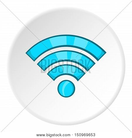 Wi-fi icon. Cartoon illustration of wi-fi vector icon for web