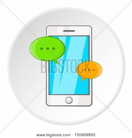 Phone messages icon. Cartoon illustration of phone messages vector icon for web