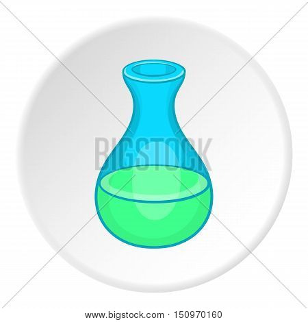 Laboratory flask icon. Cartoon illustration of laboratory flask vector icon for web