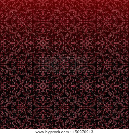 Seamless Damask Background Pattern Design And Wallpaper Made Of Turkish Texture Ceramic Tiles In Vec