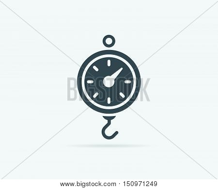 Kitchen Scale Vector Element Or Icon, Illustration Ready For Print Or Plotter Cut Or Using As Logoty