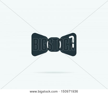 Barber Shop Bow Tie Vector Element Or Icon, Illustration Ready For Print Or Plotter Cut Or Using As