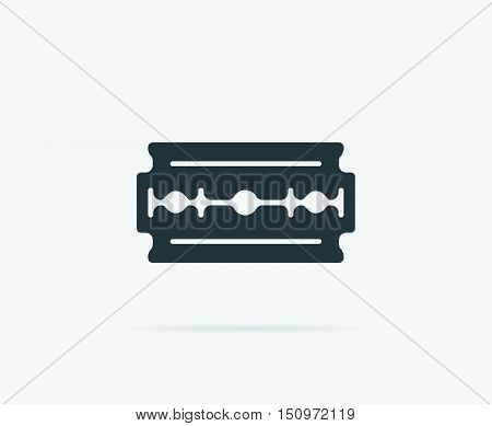 Razor Blade Old Double Edge Vector Element Or Icon, Illustration Ready For Print Or Plotter Cut Or U