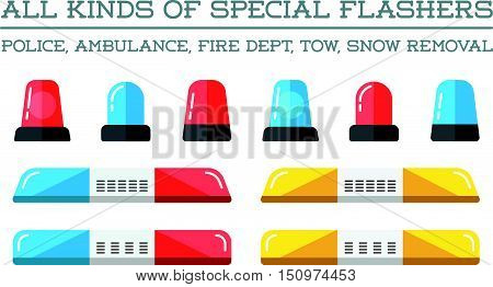 Special Flashers Of Emergency Dept Department Police Fire Ambulance Accident Tow Snow Removal