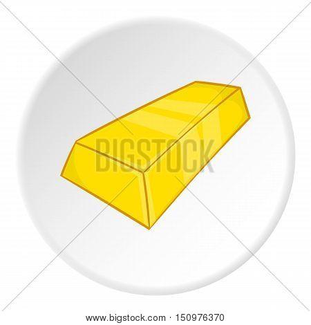 Gold bar icon. Cartoon illustration of gold bar vector icon for web