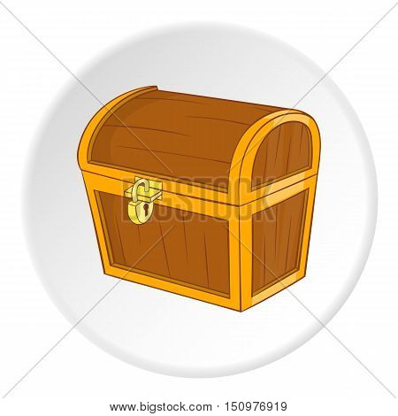 Chest icon. Cartoon illustration of chest vector icon for web