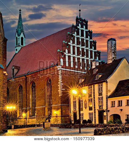 Lutheran Evangelical St. John's Church in Riga, Latvia.  The church is active place of worship