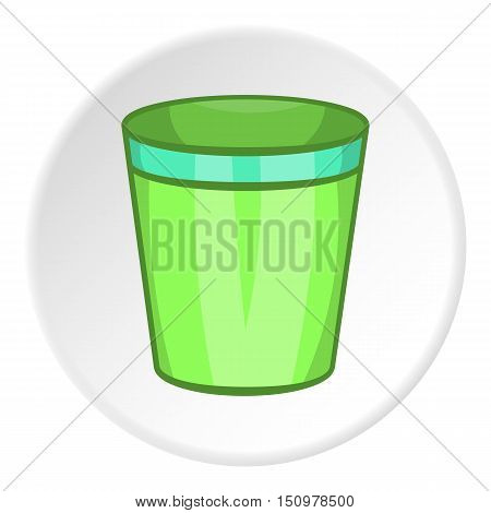 Empty trash can icon. Cartoon illustration of empty trash vector icon for web