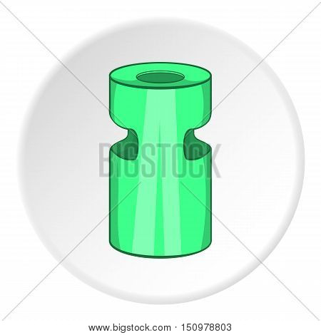 Trash ashtray icon. Cartoon illustration of trash ashtray vector icon for web