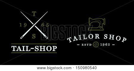 Set Of Vector Tailoring Tailor Sew Elements And Sewing Knitting Illustration Can Be Used As Logo Or
