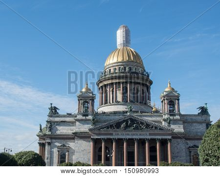 St. Isaac cathedral in St. Petersburg Russia.