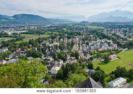 Picture of the Salzburg. Cityscape of Slazburg town Austria
