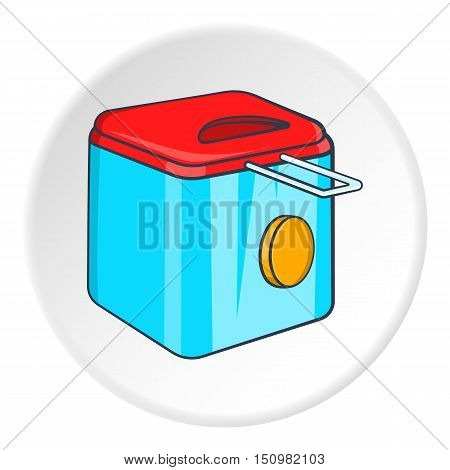 Fryer icon. Cartoon illustration of fryer vector icon for web