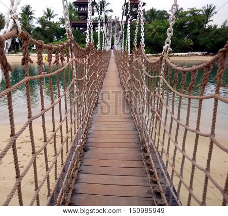 Suspension bridge to the Southernmost Point of Asia