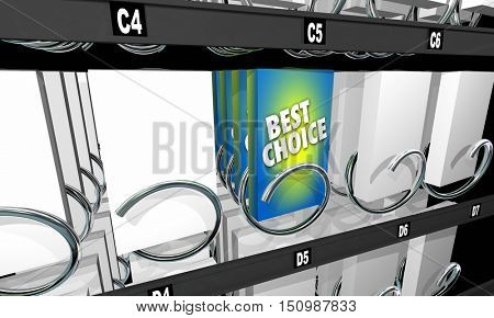 Best Choice Snack Vending Machine Product Option 3d Illustration