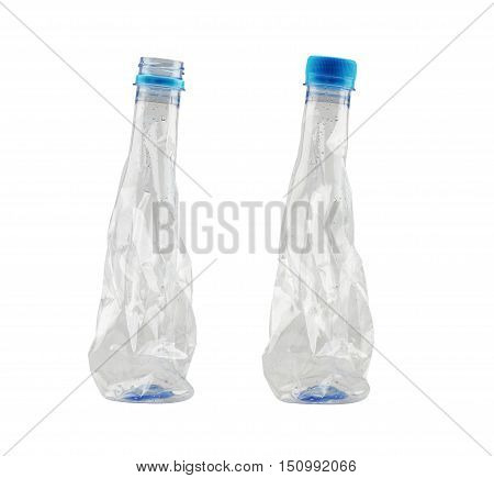 used plastic bottle isolated on white background and have clipping paths to easy deployment.