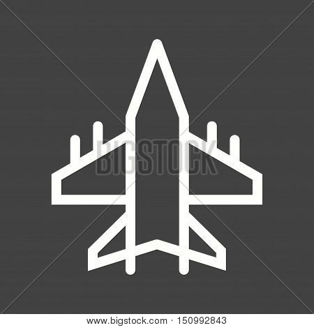 Military, jet, fighter icon vector image. Can also be used for vehicles. Suitable for mobile apps, web apps and print media.
