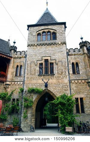 Tower gateway to the castle Marienburg (Germany).